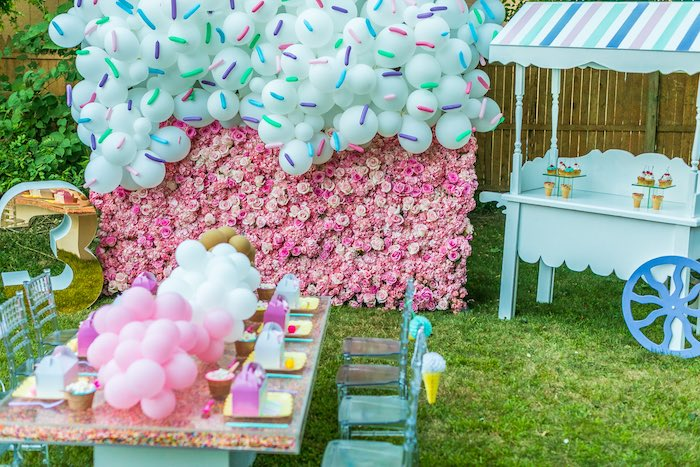 Ice Cream & Sprinkles Birthday Party on Kara's Party Ideas | KarasPartyIdeas.com (7)
