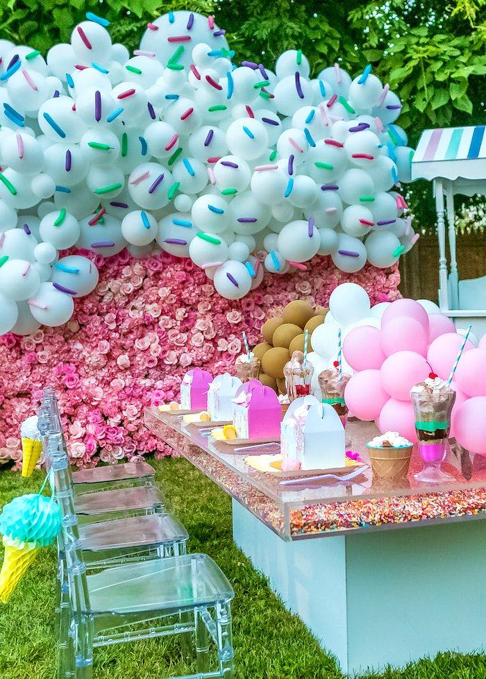 Ice Cream & Sprinkles Birthday Party on Kara's Party Ideas | KarasPartyIdeas.com (17)