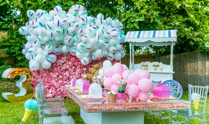 Ice Cream & Sprinkles Birthday Party on Kara's Party Ideas | KarasPartyIdeas.com (16)