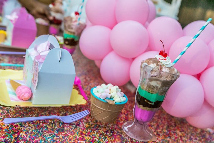 Ice Cream Bowls + Sundaes from an Ice Cream & Sprinkles Birthday Party on Kara's Party Ideas | KarasPartyIdeas.com (15)