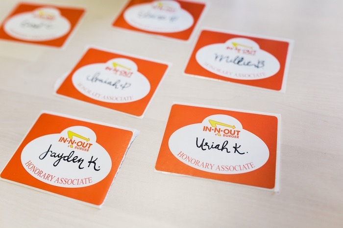 Name Tag Stickers from an In N Out Inspired 1st Birthday Party on Kara's Party Ideas | KarasPartyIdeas.com (23)