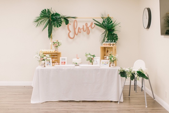 Dessert Table from an In N Out Inspired 1st Birthday Party on Kara's Party Ideas | KarasPartyIdeas.com (20)