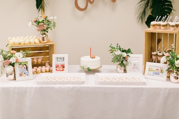 Dessert Table from an In N Out Inspired 1st Birthday Party on Kara's Party Ideas | KarasPartyIdeas.com (19)
