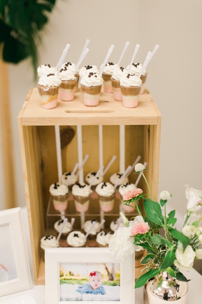Dessert Cups from an In N Out Inspired 1st Birthday Party on Kara's Party Ideas | KarasPartyIdeas.com (11)