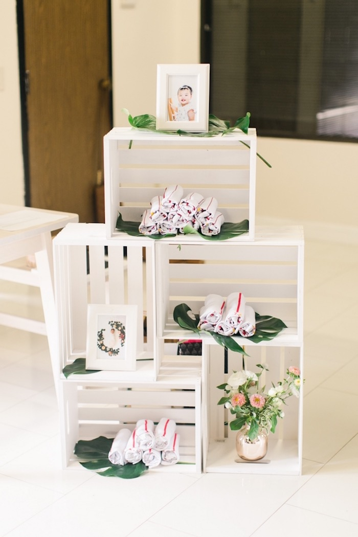 White Stacked Favor Crates from an In N Out Inspired 1st Birthday Party on Kara's Party Ideas | KarasPartyIdeas.com (31)