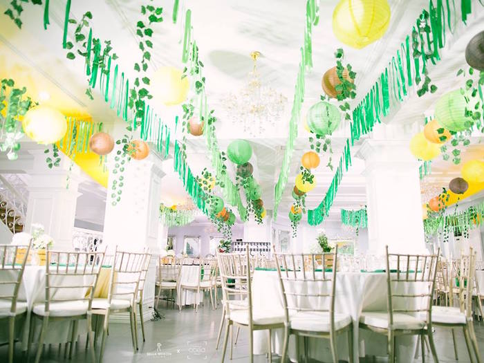 Jungle Party Guest Tables from a Jungle Safari Birthday Party on Kara's Party Ideas | KarasPartyIdeas.com (19)