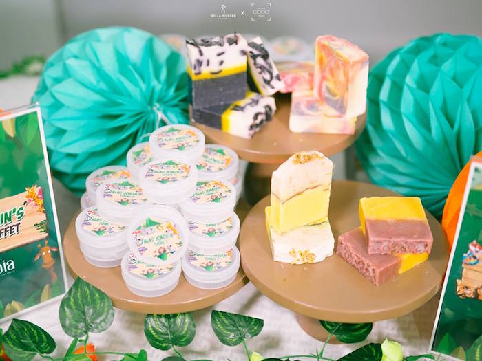 Soap Souvenir Table from a Jungle Safari Birthday Party on Kara's Party Ideas | KarasPartyIdeas.com (16)