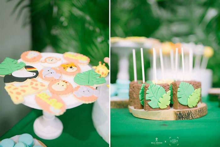 Jungle Cookies + Krispy Treats from a Jungle Safari Birthday Party on Kara's Party Ideas | KarasPartyIdeas.com (11)