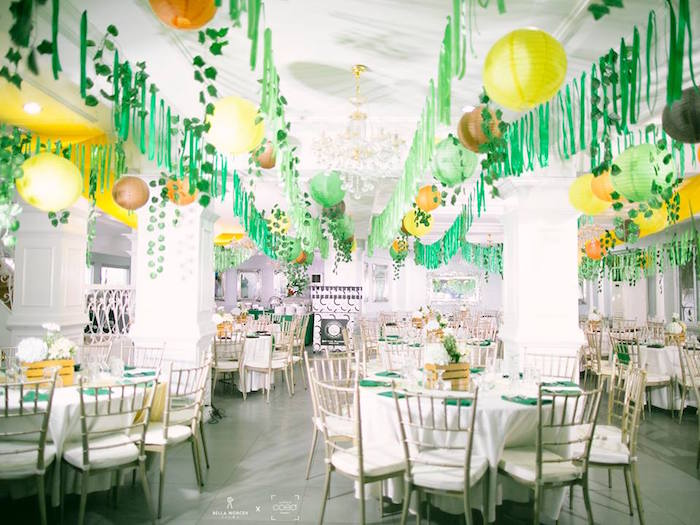 Jungle Party Tables from a Jungle Safari Birthday Party on Kara's Party Ideas | KarasPartyIdeas.com2