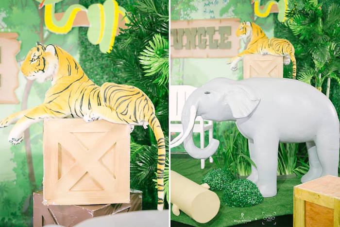 Jungle Animal Props from a Jungle Safari Birthday Party on Kara's Party Ideas | KarasPartyIdeas.com (9)