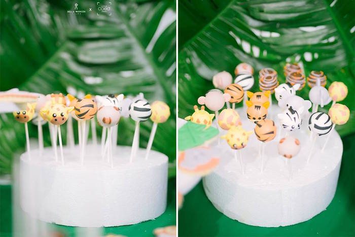 Jungle Animal Cake Pops from a Jungle Safari Birthday Party on Kara's Party Ideas | KarasPartyIdeas.com (23)