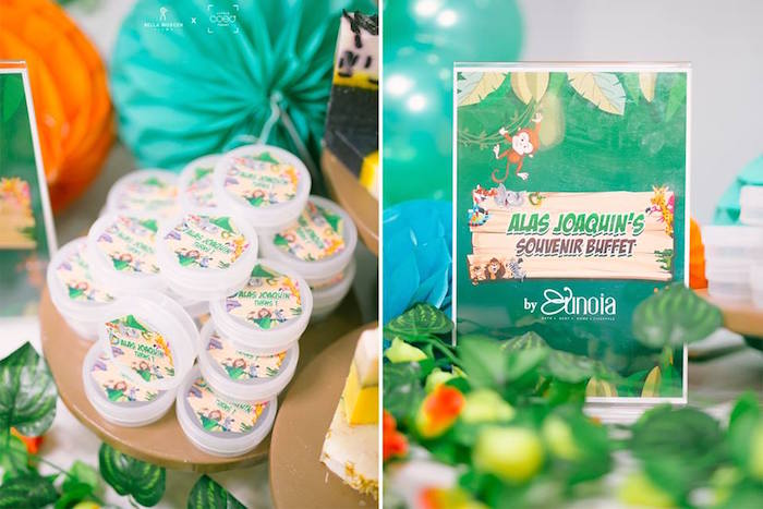 Souvenir Buffet + Signage from a Jungle Safari Birthday Party on Kara's Party Ideas | KarasPartyIdeas.com (22)