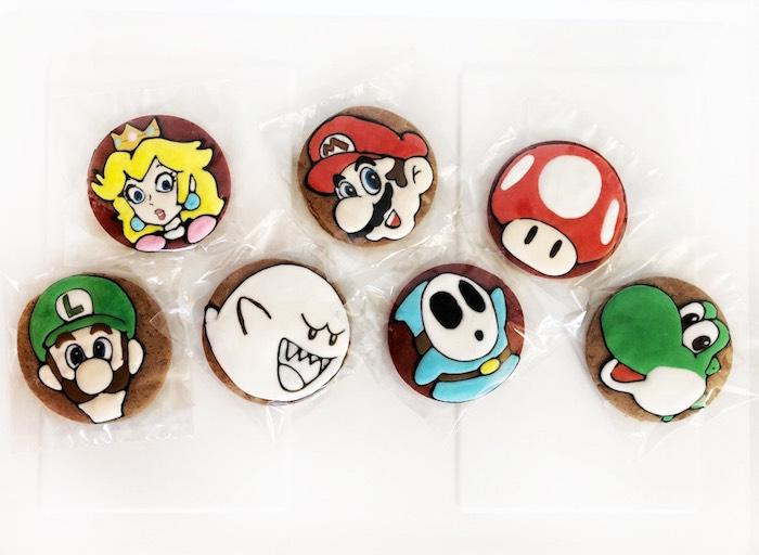 Mario Character Cookies from a Mario Kart Birthday Party on Kara's Party Ideas | KarasPartyIdeas.com