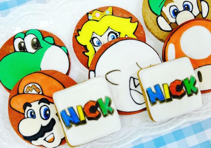 Super Mario Cookies from a Mario Kart Birthday Party on Kara's Party Ideas | KarasPartyIdeas.com (10)