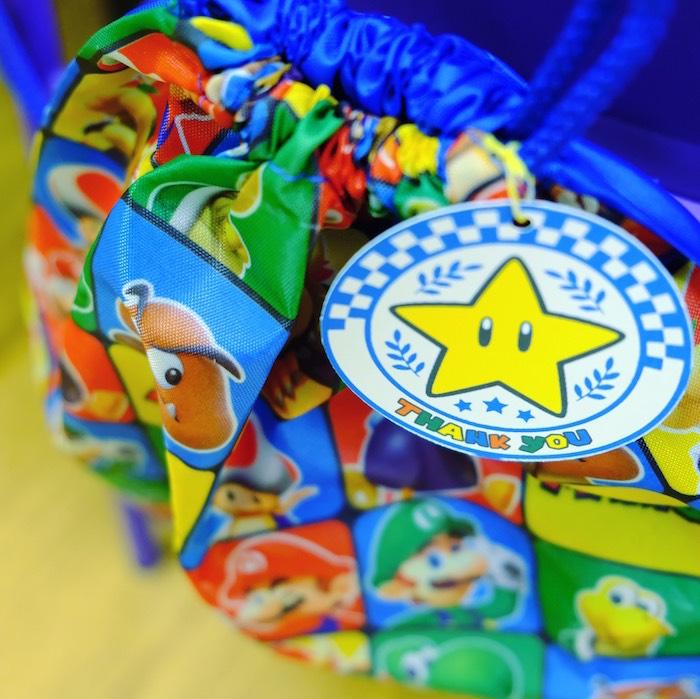 Mario Kart Drawstring Favor Bag from a Mario Kart Birthday Party on Kara's Party Ideas | KarasPartyIdeas.com (8)
