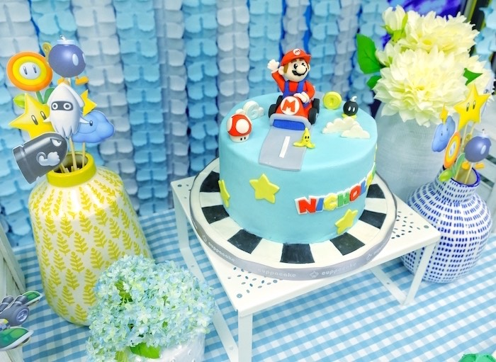 Enjoyable Karas Party Ideas Mario Kart Birthday Party Karas Party Ideas Personalised Birthday Cards Sponlily Jamesorg