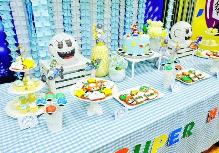 Mario Kart Dessert Table from a Mario Kart Birthday Party on Kara's Party Ideas | KarasPartyIdeas.com (25)