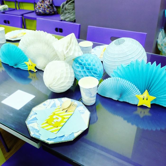Mario Guest Table from a Mario Kart Birthday Party on Kara's Party Ideas | KarasPartyIdeas.com (20)