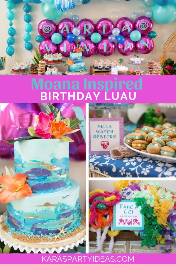Moana Inspired Birthday Luau via Kara's Party Ideas - KarasPartyIdeas.com