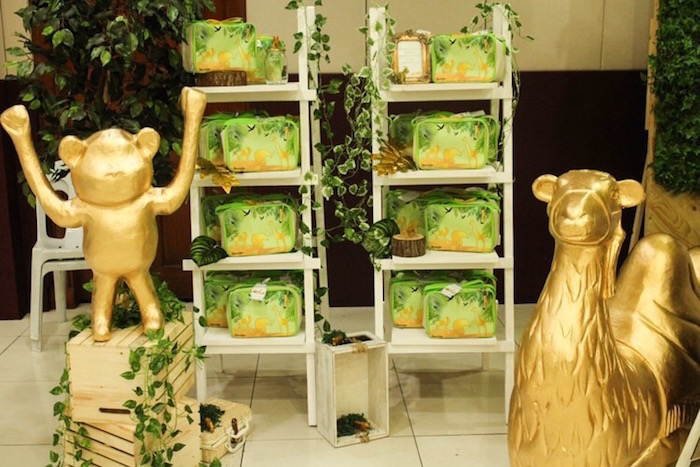 Safari Party Favors + Vine-adorned Shelving from a Modern Rustic Safari Birthday Party on Kara's Party Ideas | KarasPartyIdeas.com (14)