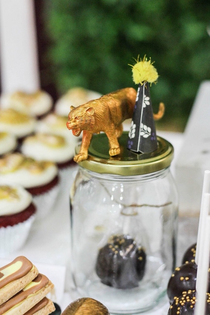 Safari Animal Jar from a Modern Rustic Safari Birthday Party on Kara's Party Ideas | KarasPartyIdeas.com (10)