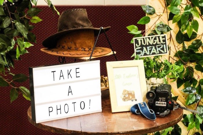 Safari Party Photo Booth from a Modern Rustic Safari Birthday Party on Kara's Party Ideas | KarasPartyIdeas.com (21)