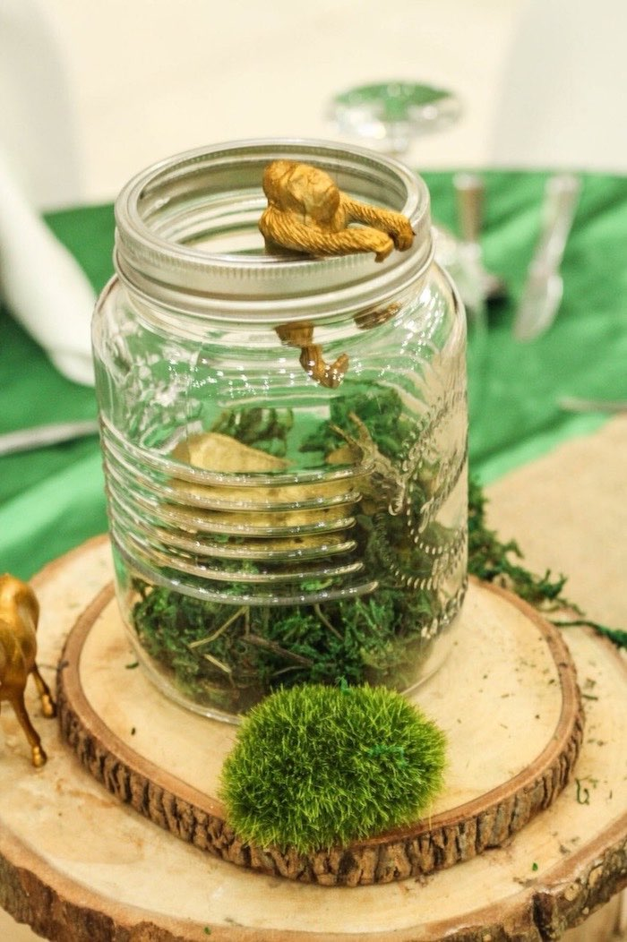 Safari Party - Jar Table Centerpiece from a Modern Rustic Safari Birthday Party on Kara's Party Ideas | KarasPartyIdeas.com (19)