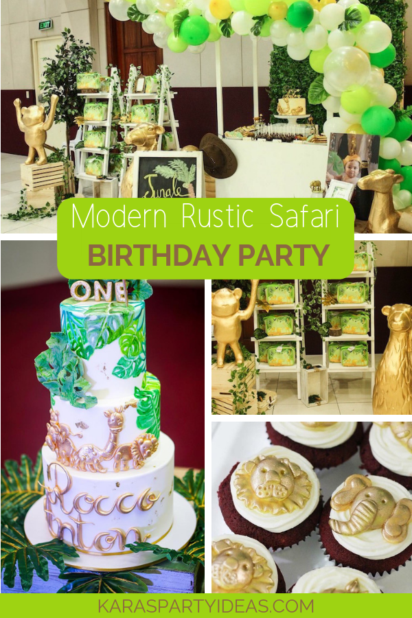 Modern Rustic Safari Birthday Party via Kara's Party Ideas - KarasPartyIdeas.com