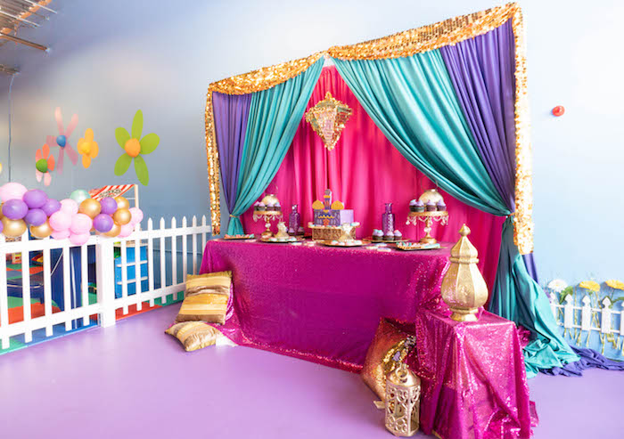 Moroccan-inspired Dessert Table from a Moroccan Genie Birthday Party on Kara's Party Ideas | KarasPartyIdeas.com (12)