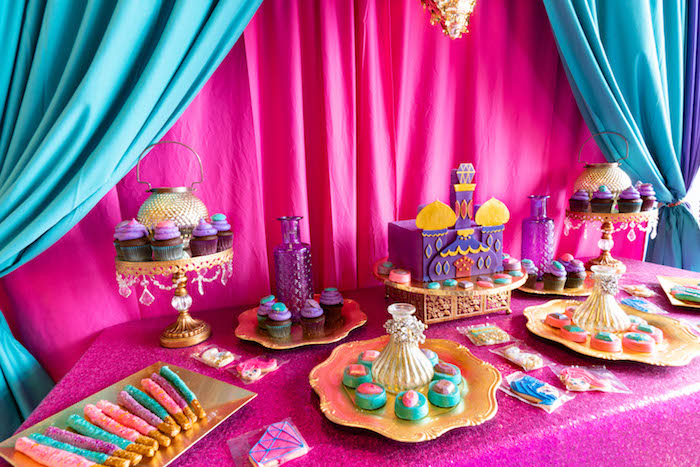 Moroccan Themed Sweet Table from a Moroccan Genie Birthday Party on Kara's Party Ideas | KarasPartyIdeas.com (10)