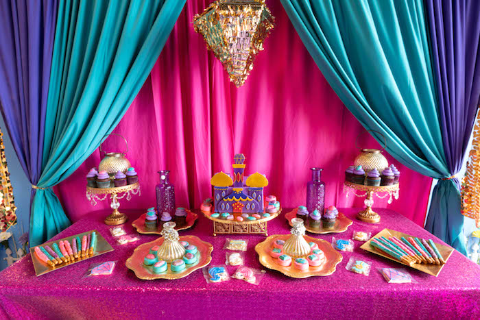 Moroccan Themed Sweet Table from a Moroccan Genie Birthday Party on Kara's Party Ideas | KarasPartyIdeas.com (9)