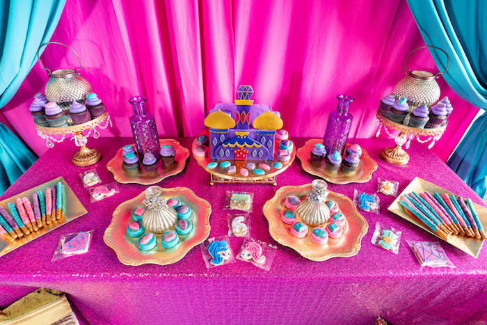 Moroccan Themed Sweet Table from a Moroccan Genie Birthday Party on Kara's Party Ideas | KarasPartyIdeas.com (8)