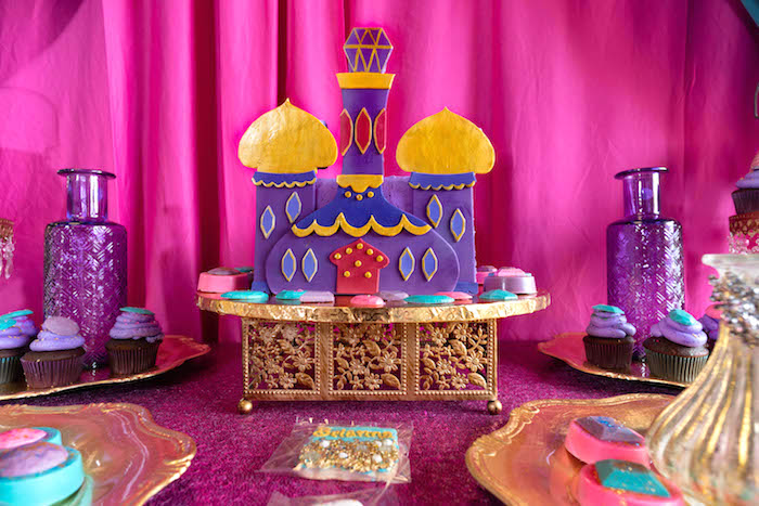 Moroccan Palace Cake from a Moroccan Genie Birthday Party on Kara's Party Ideas | KarasPartyIdeas.com (7)
