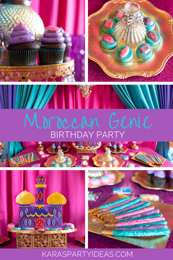 Moroccan Genie Birthday Party via Kara's Party Ideas - KarasPartyIdeas.com