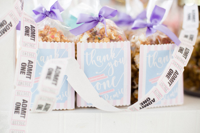Popcorn Favors from a Pastel Circus Animal Birthday Party on Kara's Party Ideas | KarasPartyIdeas.com (11)