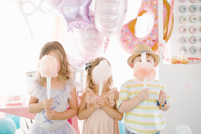 Cotton Candy from a Pastel Circus Animal Birthday Party on Kara's Party Ideas | KarasPartyIdeas.com (9)