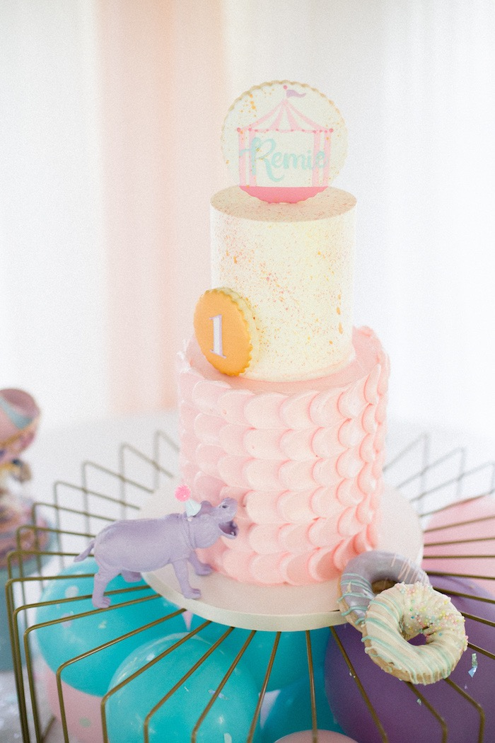 Kara S Party Ideas Pastel Circus Animal Birthday Party