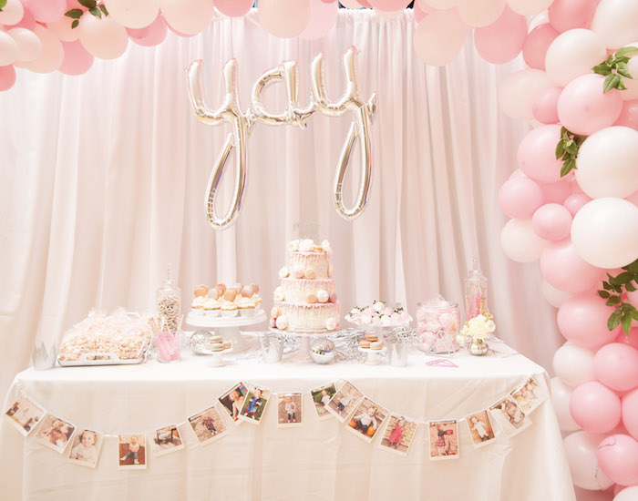 YAY - Dessert Table from a Pink Boho 2nd Birthday Party on Kara's Party Ideas | KarasPartyIdeas.com (22)