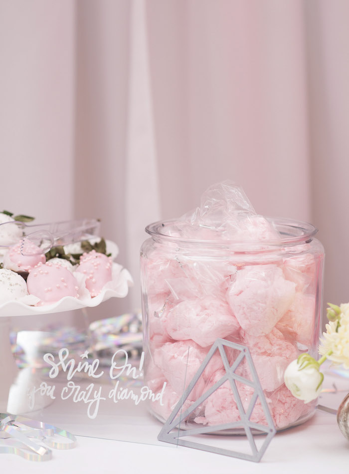 Pink Cotton Candy from a Pink Boho 2nd Birthday Party on Kara's Party Ideas | KarasPartyIdeas.com (12)