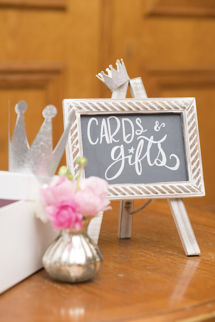 Card & Gift Table Signage from a Pink Boho 2nd Birthday Party on Kara's Party Ideas | KarasPartyIdeas.com (30)