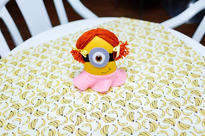 Minion Themed Party + Guest Table from a Pink Girly Minion Birthday Party on Kara's Party Ideas | KarasPartyIdeas.com (9)