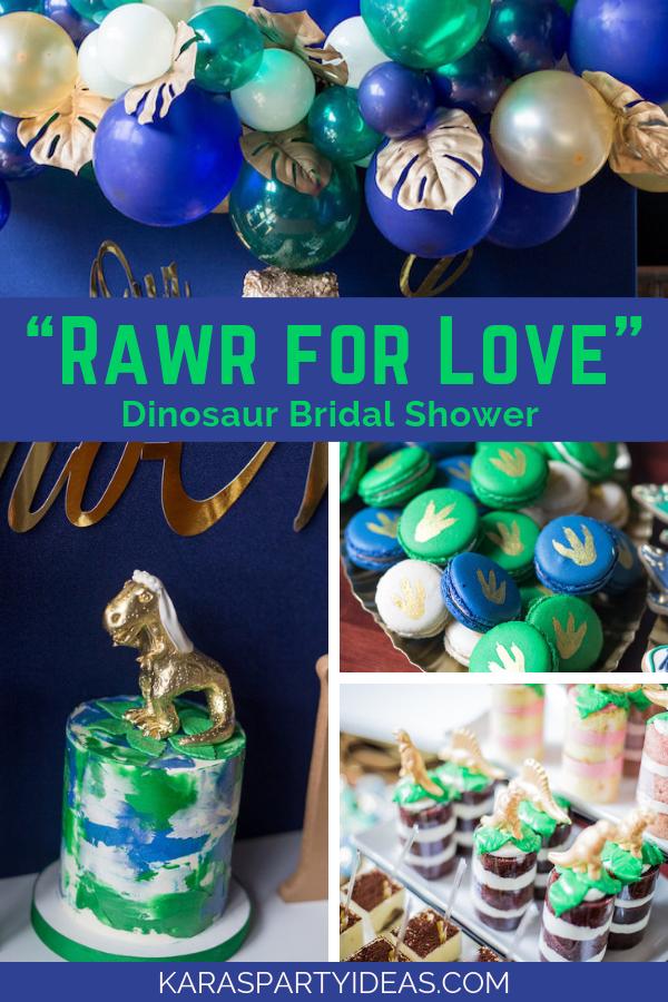 Rawr For Love Dinosaur Bridal Shower via Kara's Party Ideas - KarasPartyIdeas.com