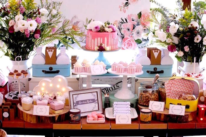 Rustic Chic Wedding Table on Kara's Party Ideas | KarasPartyIdeas.com (9)