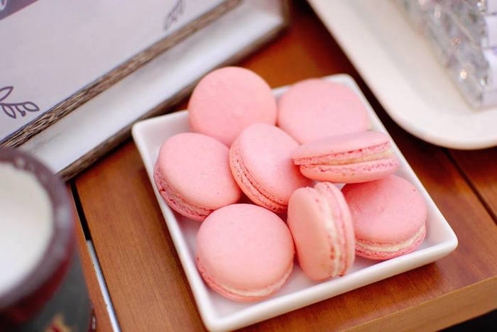 Pink Macarons from a Rustic Chic Wedding on Kara's Party Ideas | KarasPartyIdeas.com (24)