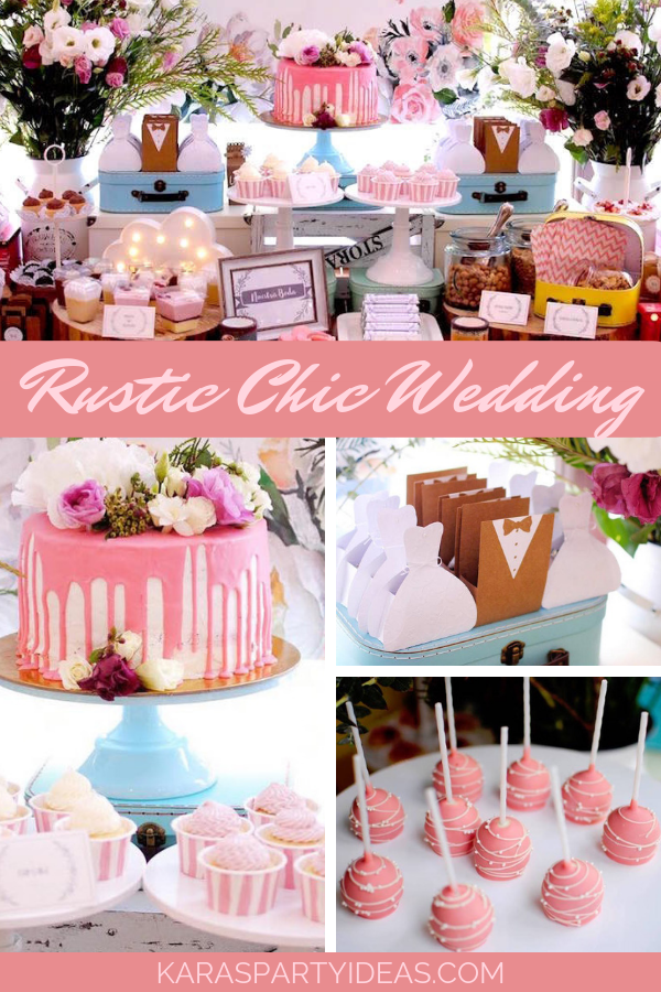 Rustic Chic Wedding via Kara's Party Ideas - KarasPartyIdeas.com