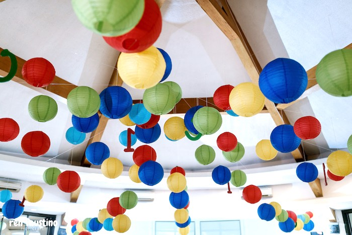 Paper Lantern Garland - Ceiling-scape from a Sesame Street Birthday Party on Kara's Party Ideas | KarasPartyIdeas.com (22)