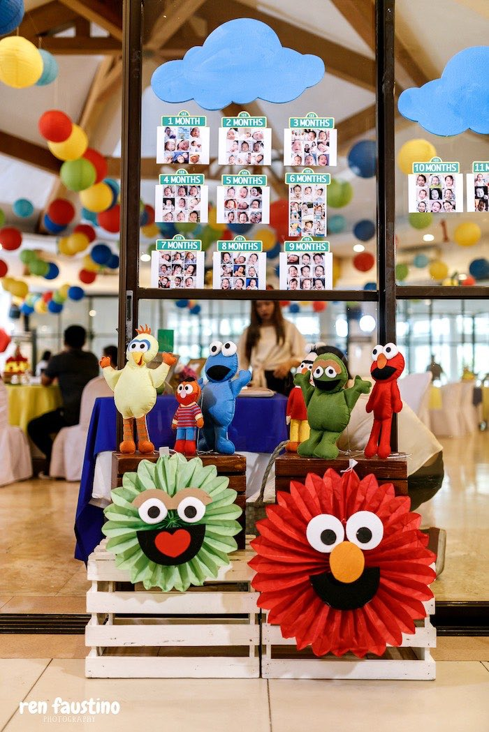 Sesame Street Photo Banner from a Sesame Street Birthday Party on Kara's Party Ideas | KarasPartyIdeas.com (14)