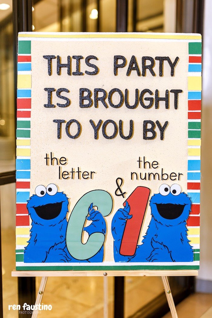 Brought to You By- Sesame Street Party Signage from a Sesame Street Birthday Party on Kara's Party Ideas | KarasPartyIdeas.com (13)