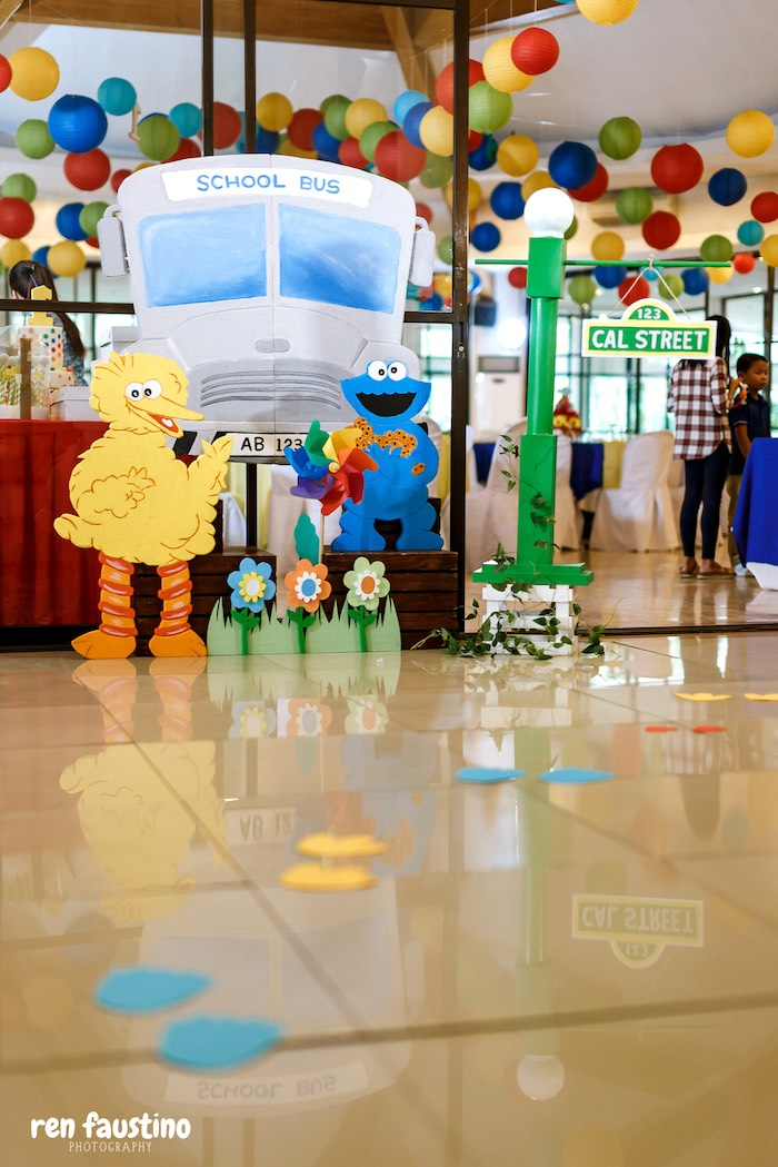 Sesame Street Party Entrance from a Sesame Street Birthday Party on Kara's Party Ideas | KarasPartyIdeas.com (31)