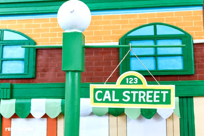 Personalized Sesame Street Light Post Sign from a Sesame Street Birthday Party on Kara's Party Ideas | KarasPartyIdeas.com (11)